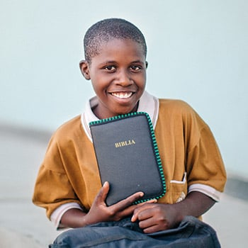 Give a child the gospel by donating a Bible