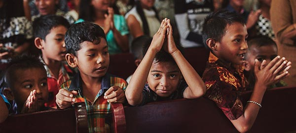 Boys in Indonesia Celebrate in Church