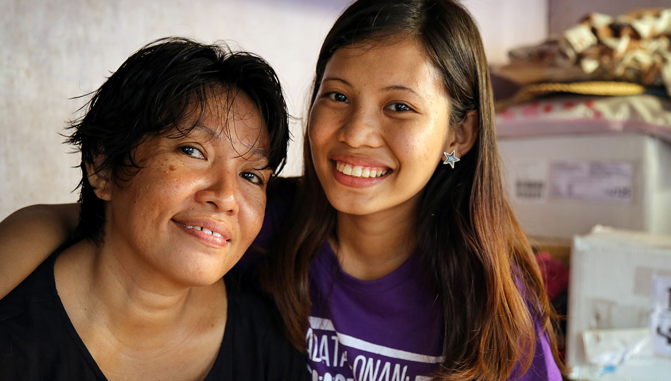 Angelyn's mother committed her life to Jesus and no longer sells drugs to support her family.