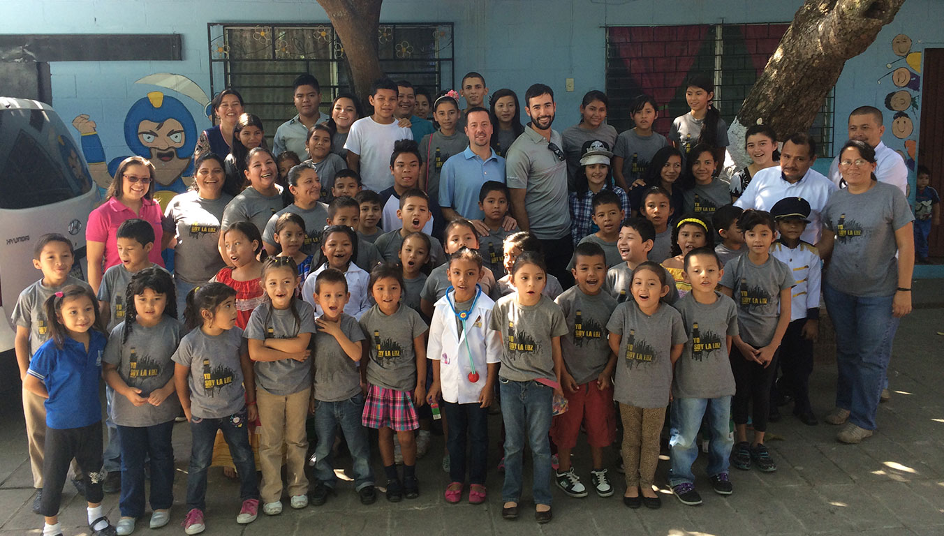 The children Cameron met on his trip to El Salvador inspired him to donate money to help improve their lives