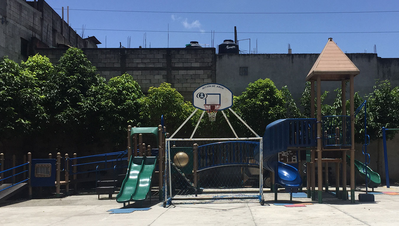 A playground at Rays of Hope School