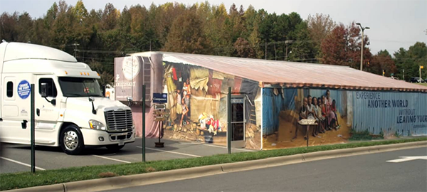 The Compassion Experience tent and truck