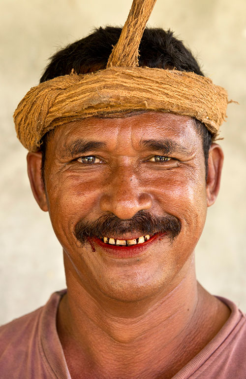 A male member of the Sumba tribe