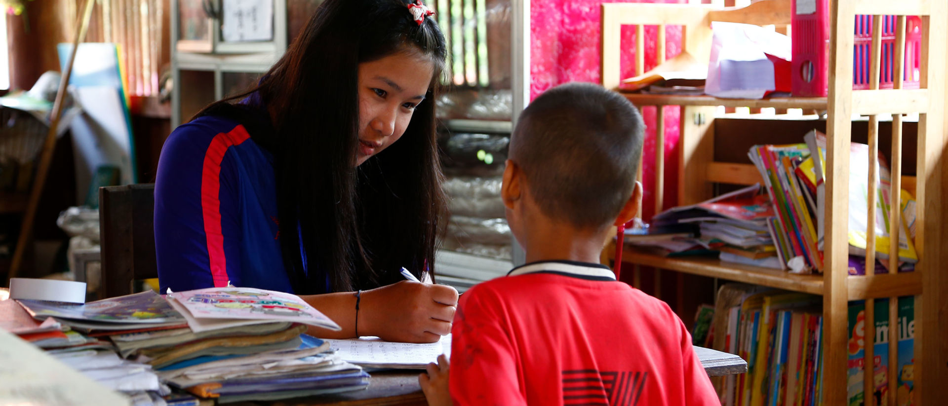 Sponsored children go to school and get extra tutoring from the caring adults at their Compassion center.