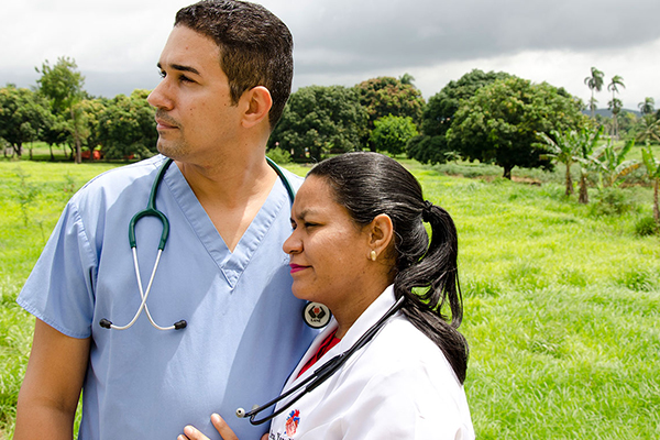 Ariel and his wife are both doctors in the Dominican Republilc