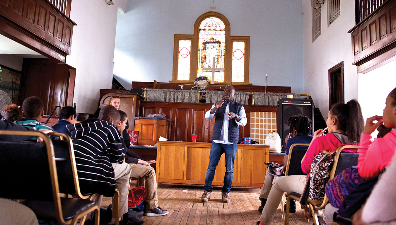 Peter participated in an after-school program at a church in Camden to encourage at-risk children