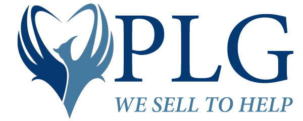 PLG Logo with tagline We Sell to Help
