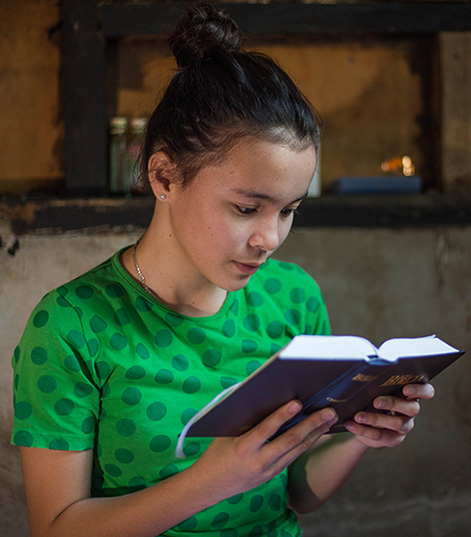 Bea reading her Bible