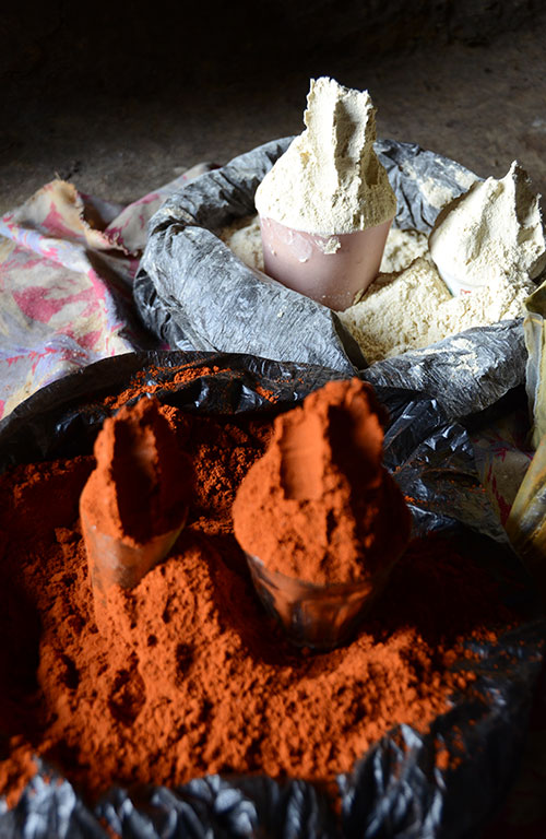 Derebe sells spices to earn an income