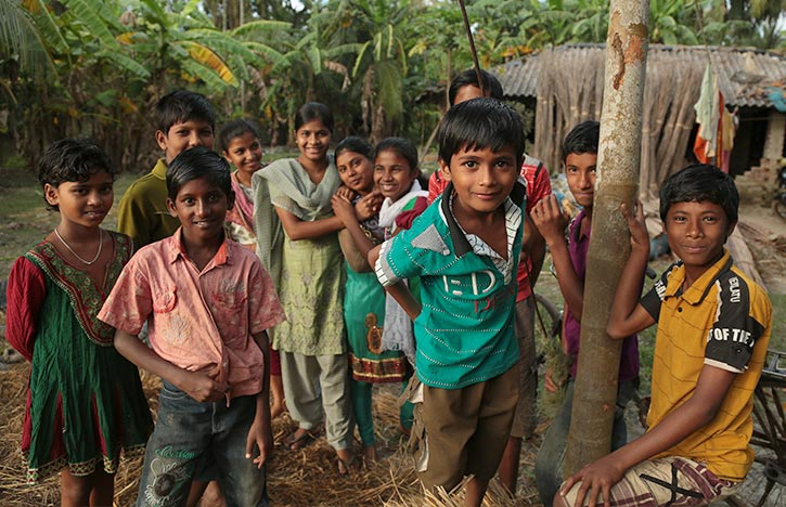 Children living in India