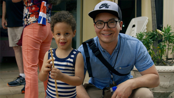 Jeff Owen (Guitar) meeting with a sponsored child in the Dominican Republic.