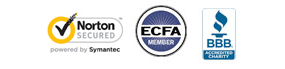 VeriSign secured, ECFA Member, Charity Navigator Four-Star Charity, BBB Accredited