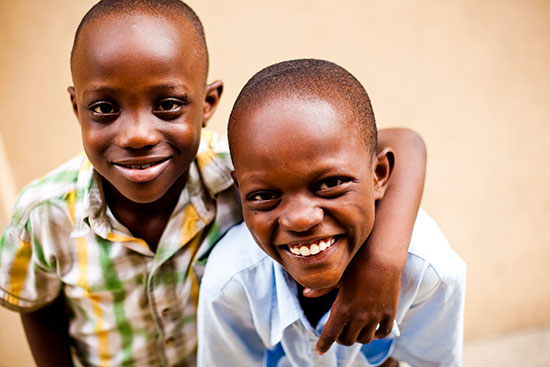 Two smiling Haitian boys