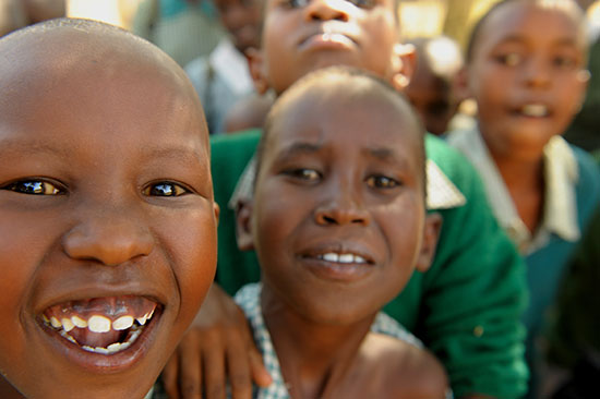 Children from Kenya laughing together