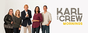 Karl and Crew Banner for Moody Radio landing page (WMBI)