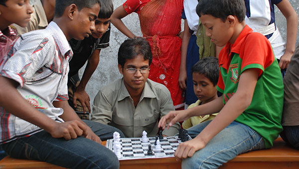 Bangladesh Boys Playing Chess