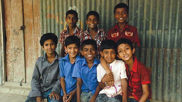Bangladesh Group of Smiling Boys