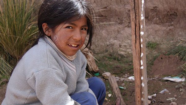 Bolivia girl wearing sweater