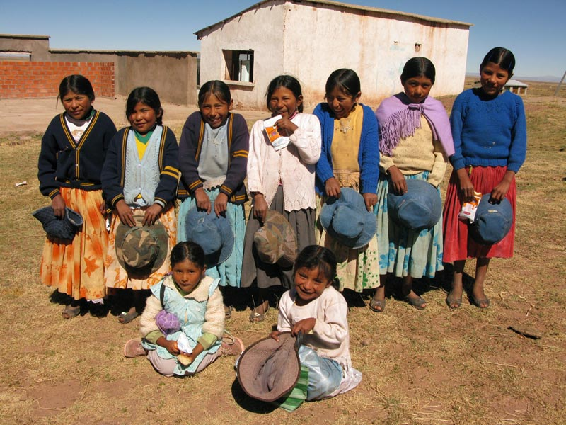 Bolivia group of smiling girls