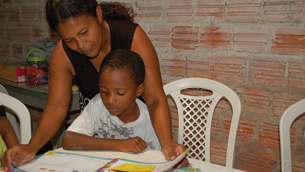 Brazil Boy and Woman Studying