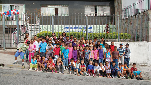 Brazil Children Outside Center Fence