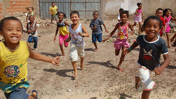 Brazil Children Running