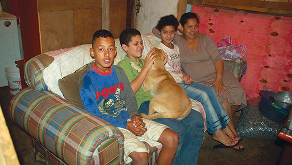 Brazil Family on Couch