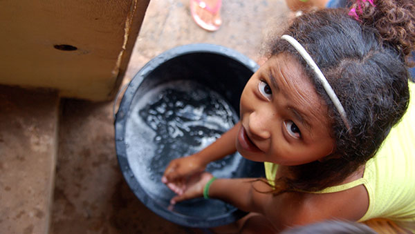 Brazil Girl Washing Hands