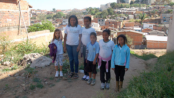 Brazil Girls with Town in Background