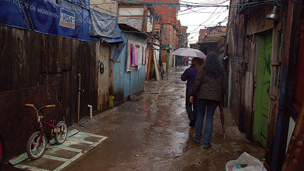 Brazil Women in Rainy Alley