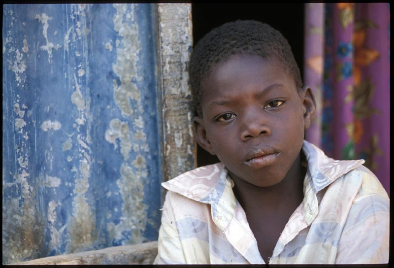 Burkina Faso Boy Closeup