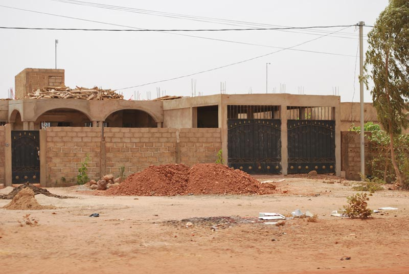 Burkina Faso Building With Brick Wall