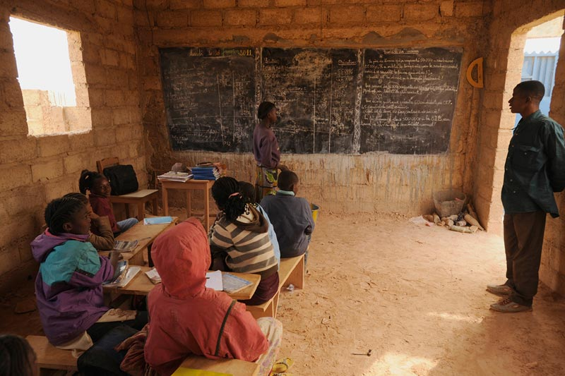 Burkina Faso Children in a Classroom