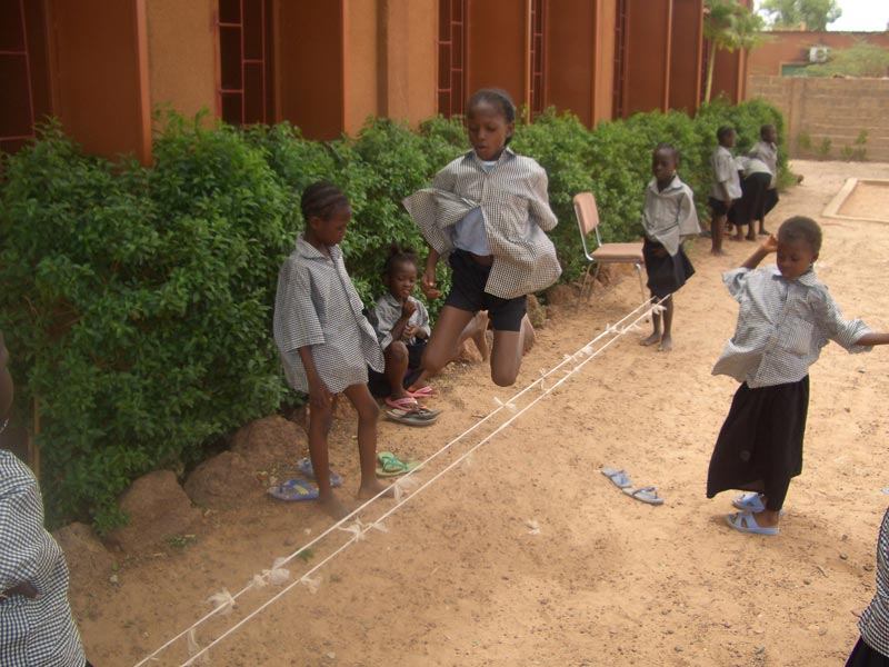 Burkina Faso Girls Playing Jump Rope
