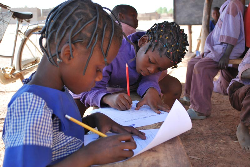 Burkina Faso Girls Writing Letters