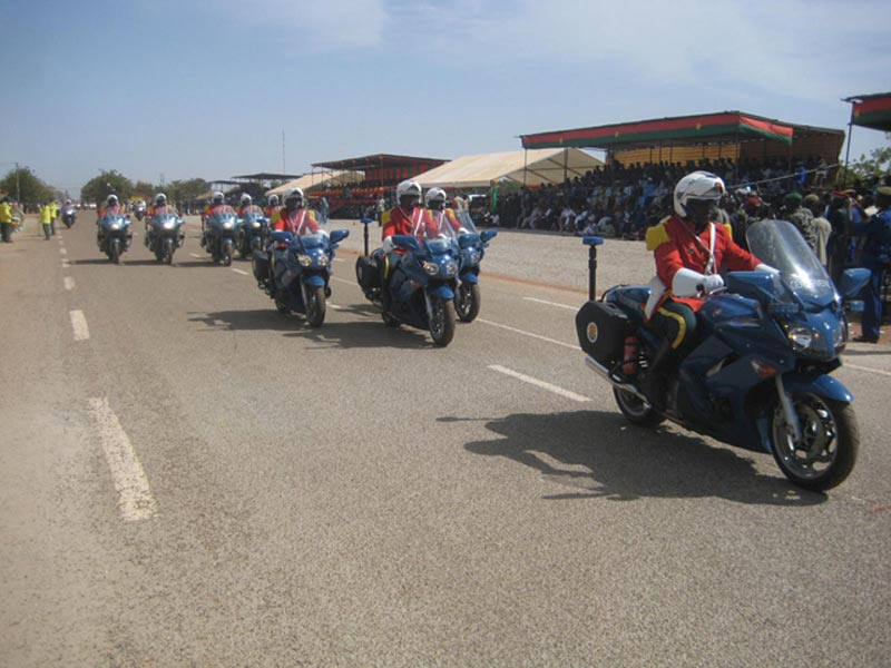 Burkina Faso Motorcycles on the Road