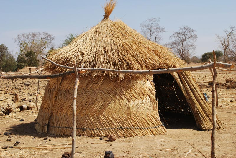 Burkina Faso Small Round Thatch Hut