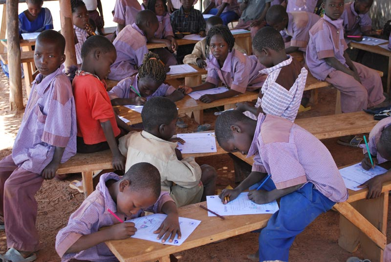 Burkina Faso Students Writing Letters