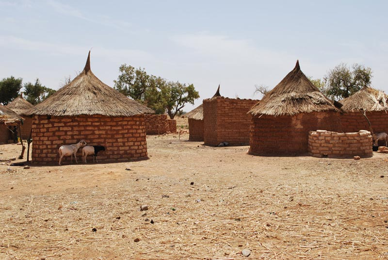 Burkina Faso Village of Round Huts