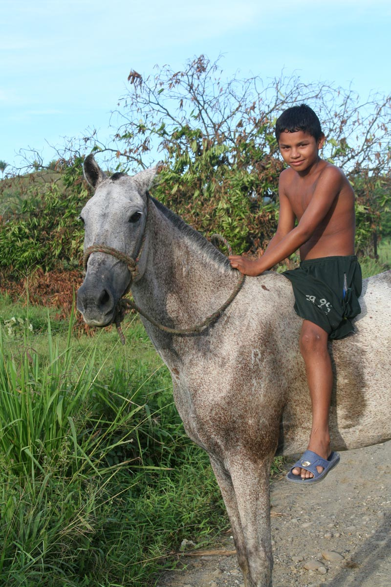 Colombia Boy on a Horse