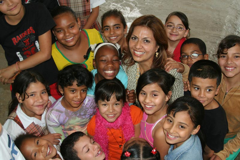 Colombia Children and Teacher