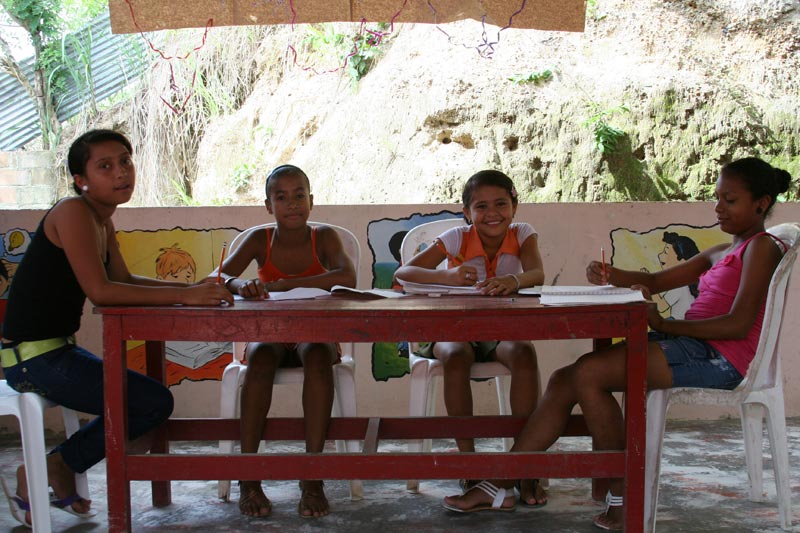 Colombia Children Sitting at a Table