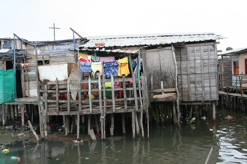 Colombia Home on Stilts in Water