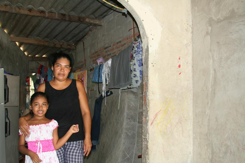 Colombia Mother and Her Child in Their Home