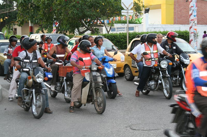 Colombia Motorcycles on the Road