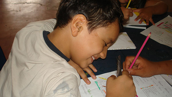 Colombia Smiling Boy Studying