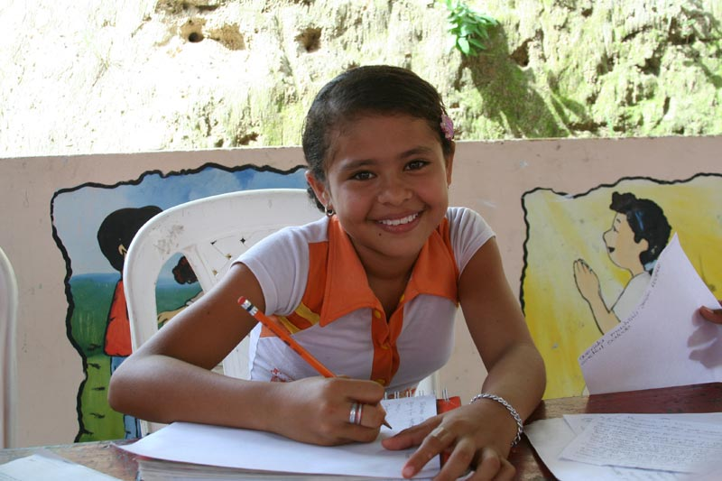 Colombia Smiling Girl Studying