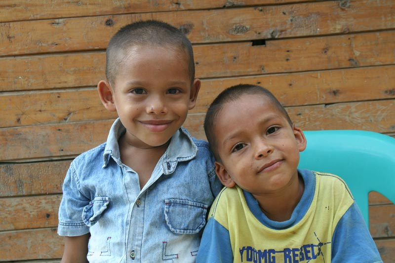 Colombia Two Boys Smiling