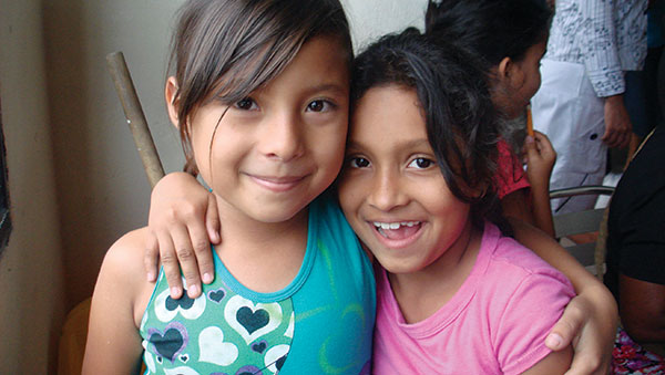 Colombia Two Girls Smiling