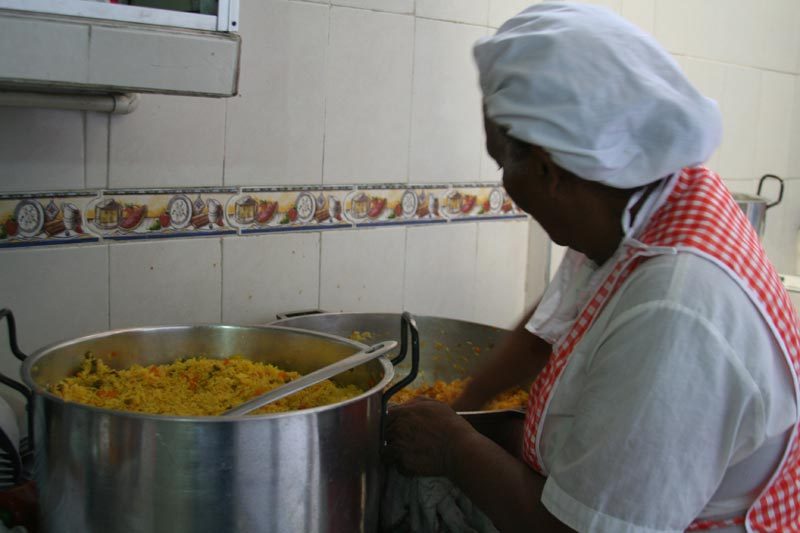 Colombia Woman Cooking Food